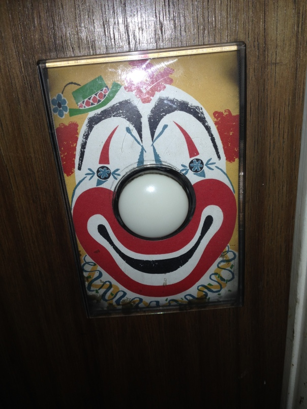 creepy clown face